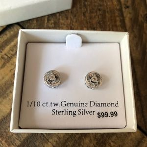 NWT Genuine Diamond Earrings
